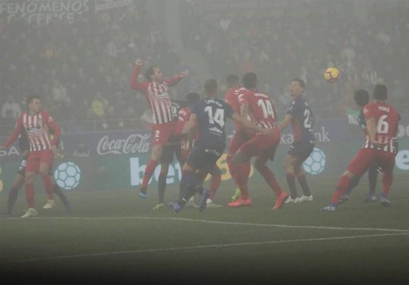 رجحان قاطعانه اتلتیکومادرید در ورزشگاه مه آلود