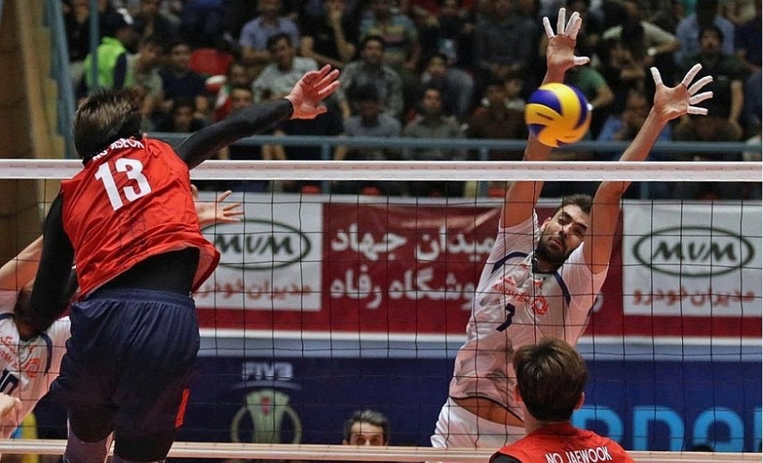 تیم ملی والیبال ایران صفر - کره جنوبی یک، ست نخست