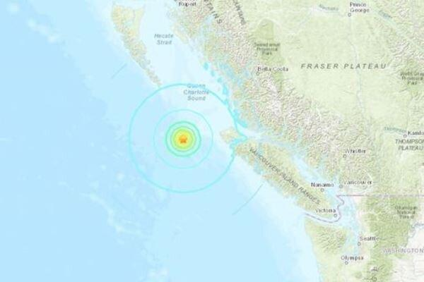زلزله 6.3 ریشتری پورت هاردی کانادا را لرزاند