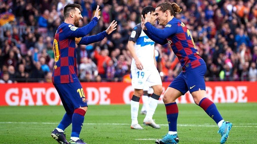 پیروزی پرگل بارسلونا ؛ بارسا تنها در صدر