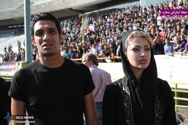 عکس سپهر حیدری و همسرش در تشییع جنازه هادی نوروزی