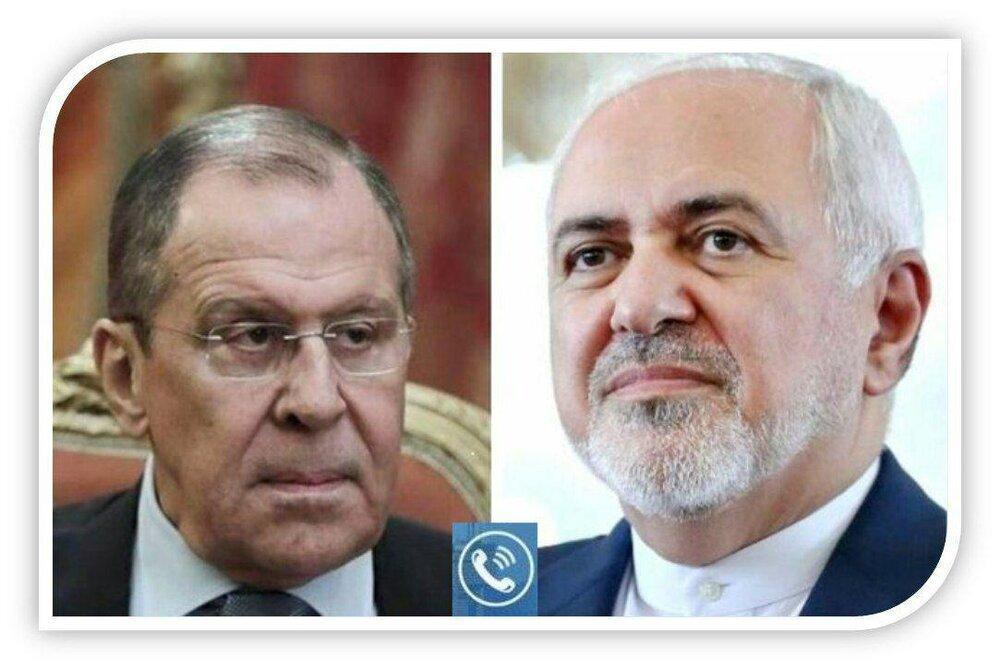ظریف درباره تصمیم برجامی آمریکا با لاوروف گفتگو کرد