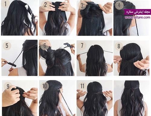 آموزش مرحله به مرحله مدل موی بوهو (boho hairstyle)