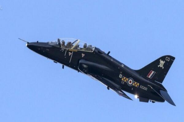 سقوط یک فروند جت نیروی هوایی سلطنتی انگلیس