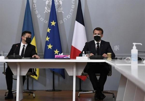 اطمینان زلنسکی درباره حمایت فرانسه از عضویت اوکراین در ناتو