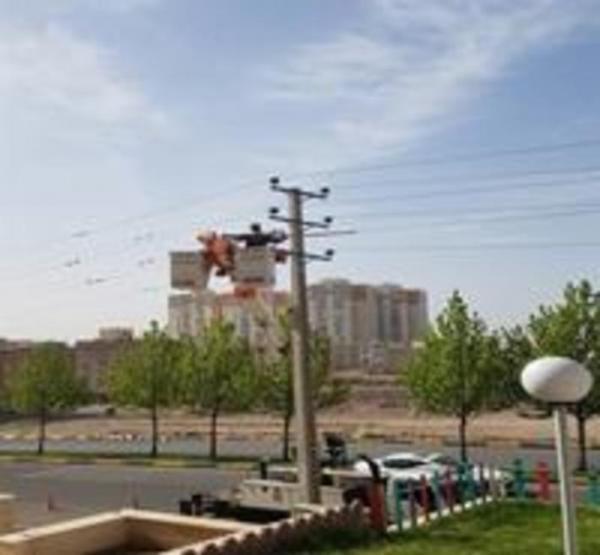 مانور تعمیرات شبکه های توزیع برق در قزوین برگزار گردید