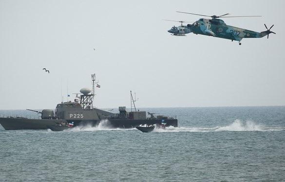 برگزاری تمرین دریایی ارتش در دریای خزر