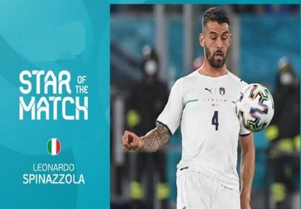 یورو 2020، اسپیناتزولا برترین بازیکن ملاقات ترکیه - ایتالیا شد