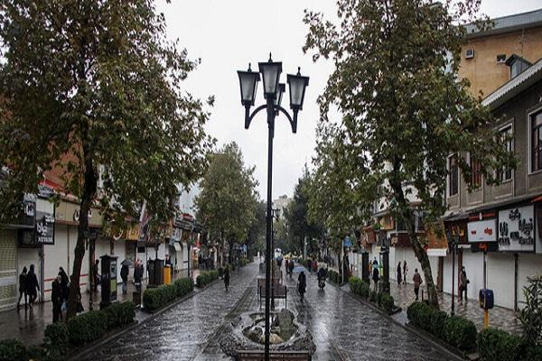 بارش باران و رعد و برق در بعضی استان های کشور